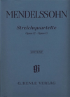 HAL LEONARD Mendelssohn, F.: String Quartets Op.12, Op.13 - Urtext (two violins, viola, and cello)