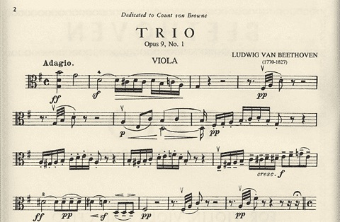 International Music Company Beethoven: Trio in G major Op.9 No.1 (violin, Viola & cello) IMC