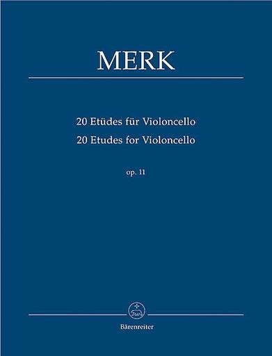 Barenreiter Merk, Joseph: 20 Etudes fur Violoncello op. 11, Barenreiter