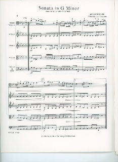 Rarities for Strings Eccles, H. (Aronson): Sonata in G minor for Cello and Strings (cello, and string quartet)