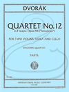 "International Music Company Dvorak (Paganini Quartet): (Parts) String Quartet No.12 in F Major, Op.96 ""American"" (string quartet) International"