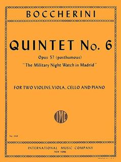 "International Music Company Boccherini, Luigi: Quintet No.6 Op.57 ""The Military Night Watch in Madrid"""