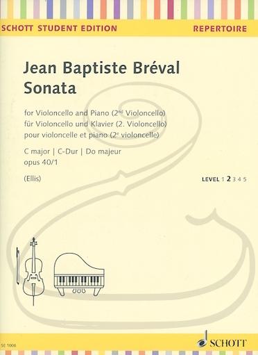 HAL LEONARD Breval (Ellis): Sonata No.1 in C Major, Op.40 (cello & piano)