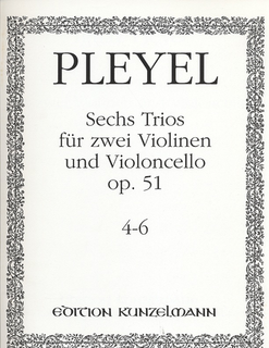 Pleyel: 6 Trios Op.51 No.4-6 (2 violins & cello)