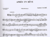 Carl Fischer Faure, Gabriel: Melodies transcribed for Cello or Violin & Piano V.1