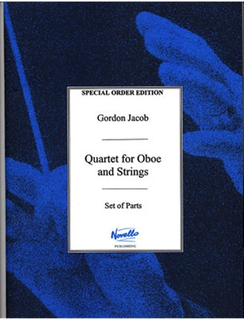HAL LEONARD Jacob, Gordon: Quartet (1938) for Oboe, Violin, Viola and Cello