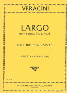 International Music Company Veracini, F.M.: Largo (4 basses)