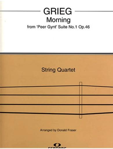 HAL LEONARD Grieg, Edvard (Fraser): Morning from Peer Gynt (string quartet)