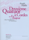 Hahn, Reynaldo: String Quartet No. 2 in F (parts and score)