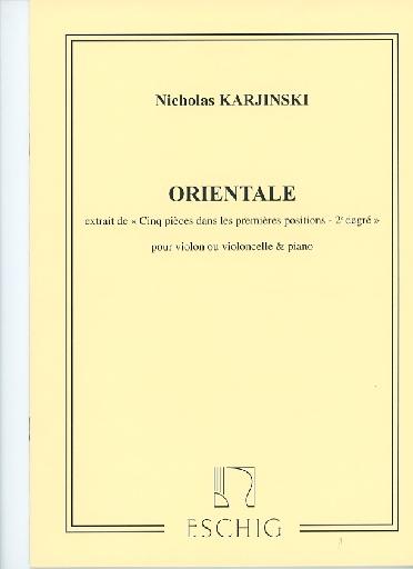HAL LEONARD Karjinski, Nicholas: Orientale (cello & piano)