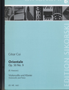 HAL LEONARD Cui, Cesar (Kreutzer): Orientale, OP. 50 No. 9 (cello & piano)