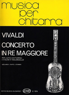 HAL LEONARD Vivaldi, Antonio: Concerto in D Major RV93 (guitar, 2 violins, cello)