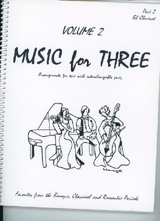 Last Resort Music Publishing Kelley, Daniel: Music for Three Vol.2, Favorites from the Baroque, Classical & Romantic Periods (clarinet)