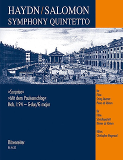 Barenreiter Haydn, F.J. (Hogwood): Surprise Symphony (flute, 2 violins, cello, piano)
