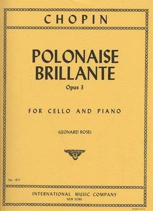 International Music Company Chopin, Frederic (Rose): Polonaise Brillante Op.3 (cello & piano)