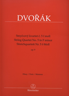 Barenreiter Dvorak, Antonin: String Quartet No. 5 in f minor Op. 9