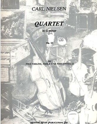 LudwigMasters Nielsen, Carl: Quartet in G minor Op.13 (2 violins, viola, cello) score and parts