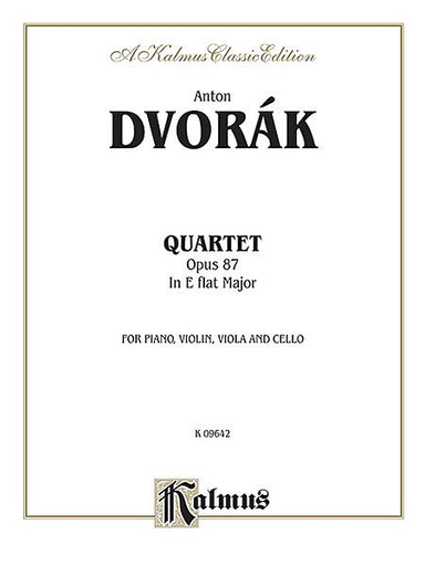 Alfred Music Dvorak, Antonin: String Quartet in Eb major, Op. 87 (score and parts)