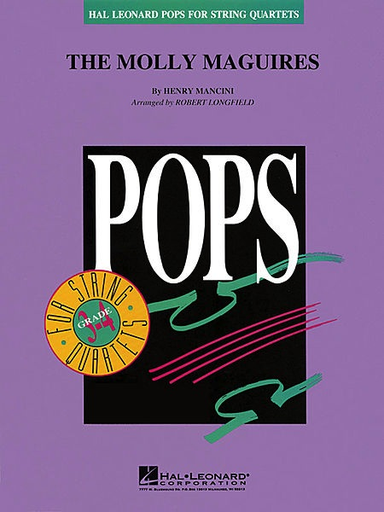 HAL LEONARD Mancini, Henry: The Molly Maguires-Pops for String Quartet (score and parts)