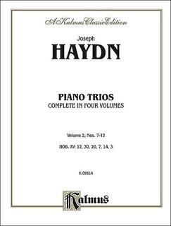 Alfred Music Haydn, F.J.: Piano Trios Vol.2,#7-12 Kalmus edition (violin, Cello, Piano)