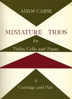 Stainer & Bell Ltd. Carse, Adam: Miniature Trios Vol.3-Carriage & Pair (violin, Cello & piano)