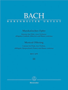Barenreiter Bach, J.S.: Canons for Flute, 2 Violins, Basso Continuo from Musical Offering