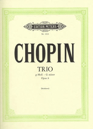 Chopin, F.: Piano Trio in G Minor Op.8 (violin, cello, piano)