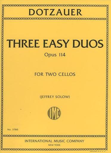 International Music Company Dotzauer (Solow): Three easy duos, op114 (cello) IMC