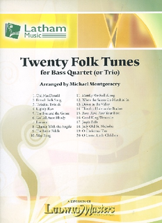 Montgomery, M. (arr.): 20 Folk Tunes for Bass Quartet or Trio (3-4 basses, and score)