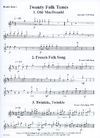 LudwigMasters Montgomery, M. (arr.): 20 Folk Tunes for Bass Quartet or Trio (3-4 basses, and score)