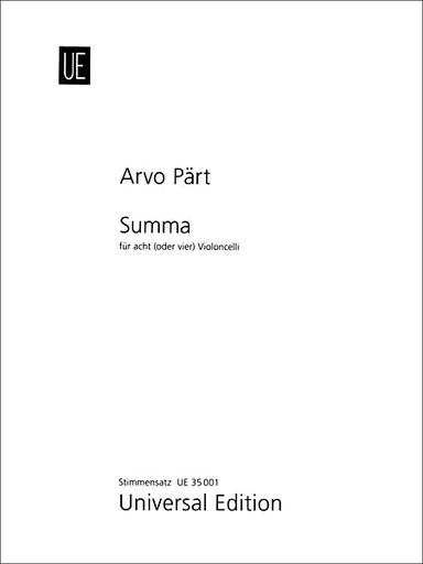 Carl Fischer Part, A.: Summa (8 or 4 cellos)