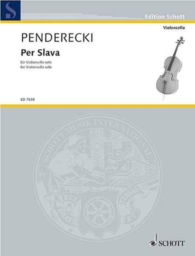 HAL LEONARD Penderecki, Krzysztof: Per Slava (cello solo)