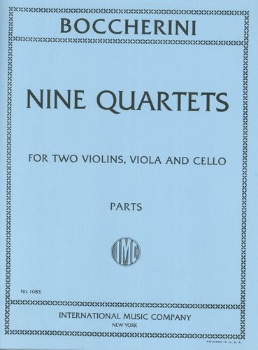International Music Company Boccherini, Luigi: Nine Selected String Quartets