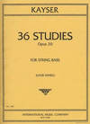 International Music Company Kayser, H.E.: 36 Studies Op.20 (bass)