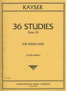 International Music Company Kayser, H.E.: 36 Studies Op.20 (bass)
