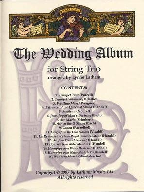 Latham, Lynne: Wedding Album for String Trio (violin, Viola, Cello)(2 violins, Cello)