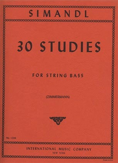 International Music Company Simandl (Zimmerman): 30 Studies for the Development of Tone (bass)