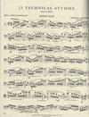 International Music Company Findeisen, T.A. (Zimmerman): 25 Technical Studies, Op.14 Volume I (bass)