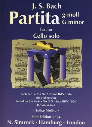 HAL LEONARD Bach, J.S. (Niefind): Partita in G minor (cello solo)
