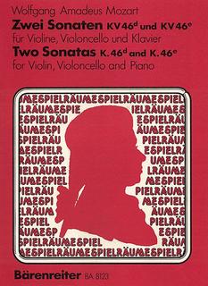 Barenreiter Mozart , W.A.: 2 Sonatas K46d & 46e (violin, cello, piano)