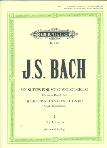 Bach, J.S. (Sterling): Suites No.1-3 (bass solo)