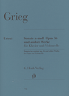 HAL LEONARD Grieg, E. (Steen-Nokleberg, ed.): Sonata in A Minor, Op.36, urtext (cello & piano)