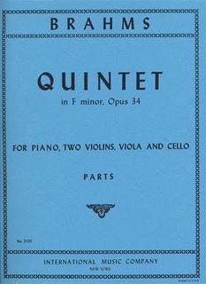 International Music Company Brahms, Johannes: Quintet in F minor Op.34 (2 violins, viola, cello, piano)