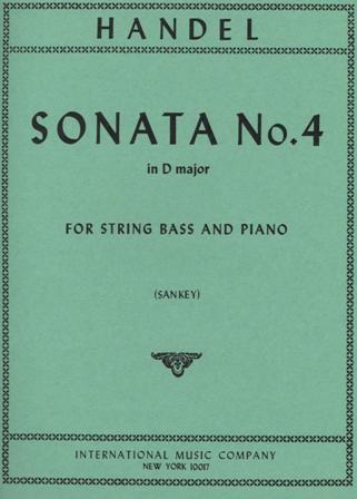 International Music Company Handel, G.F. (Sankey): Sonata #4 in D major (bass & piano)