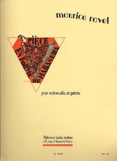 Ravel, Maurice: Piece en Forme de Habanera (cello & guitar)