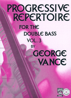Carl Fischer Vance, G.: Progressive Repertoire for the Double Bass, Volume 3 (bass, with CD)
