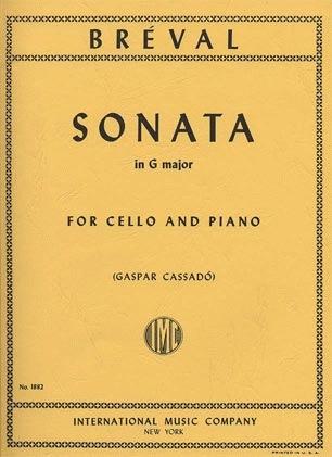 International Music Company Breval, J.B. (Cassado): Sonata in G Major (cello & piano)