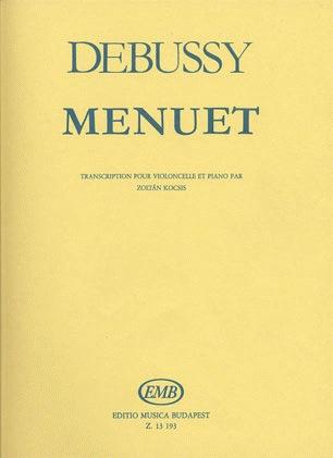 HAL LEONARD Debussy, Claude: Menuet (cello & piano)