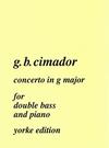 Carl Fischer Cimador, G.B.: Concerto in G major (bass & piano)