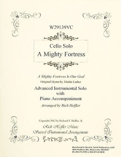 Luther, Martin (Heffler): A Mighty Fortress (cello & piano)